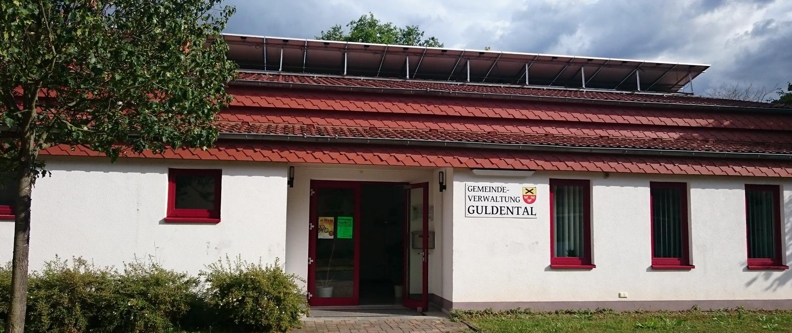 Eingang zur Gemeindeverwaltung